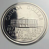 1873-1973 Canada 1 One Dollar Prooflike KM82 PEI Uncirculated Coin U984