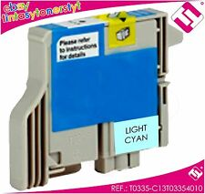 TINTA CIAN CLARO T0335 IMPRESORA STYLUS PHOTO 960 CARTUCHO CYAN NO ORIGINAL