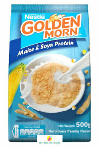GOLDEN MORN - MAIZE AND SOYA PROTEIN CEREAL - NESTLE - 2 x 500g