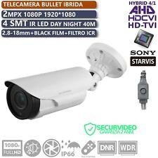 TELECAMERA 2MP 1080p SONY STARVIS AHD CVI TVI IBRIDA OSD UTC 2.8-12 DAY/NIGHT
