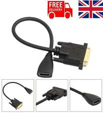 DVI 24+1pin Male to HDMI Female Adapter Converter Cable - Monitor Projector GOLD