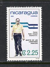 Nicaragua  1991  #1844   Dr. Chamorro   1v.  MNH  L392