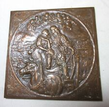 high quality antique 1800's ornate figural bronze Orahal miniature bronze plaque
