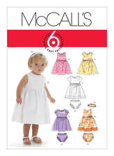 McCall's Sewing Pattern M6015 6015 Babies S-XL Dresses Panties Headband