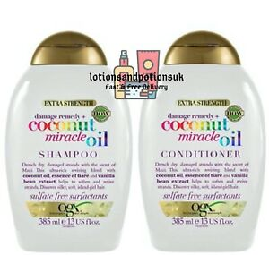 OGX DAMAGE REMEDY COCONUT MIRACLE OIL Shampoo AND Conditioner 385ML