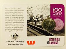 2015 Official Coin Collection Anzacs Remembered 20cent Coin WWI Gallipoli Landin