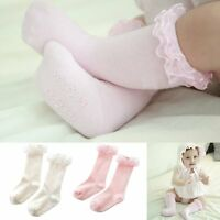 Lovely Babys Kids Girls Soft Cotton Socks Knee High Tight Hosiery Warm Stockings
