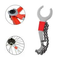 3 In 1 Bike Chain Whip Cassette Bracket Freewheel Wrench Remover Tool Repai T7P9