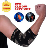 COPPER INFUSED Elbow Brace Support Arm Band Pad Compression Tennis Guard Elastic