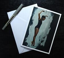 Ballerina on Point, Blank Greeting Card, Ballerina Artwork Print /Birthday Cards