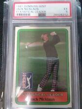 PSA 5  1981 Donruss Golf Jack Nicklaus Statistical Leader Card RC