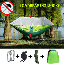 Outdoor Camping 2 Persons Travel Hanging Hammock Bed Mosquito Net Tent Swing
