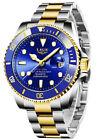 Pro Diver Mens Watch Blue Dial Quartz Two Tone 26972 Bracelet