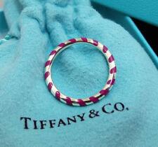 NEW Tiffany & Co. Paloma Picasso Palina Swirl Purple Enamel Ring 6.5 Silver 925