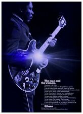 B.B. King  **LARGE POSTER**  Blues Guitar Master GIBSON Guitars Lucille bb