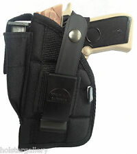 Gun Holster with mag pouch fits Bersa Thunder 45  w Laser Use L or R Hand Carry
