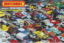 Matchbox original Carry Case cover insert USA 1982