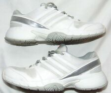 Womens White & Silver ADIDAS Adiprene Athletic Sneakers Shoes Sz 7.5