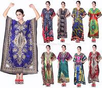 Taj Mahal Printed Boho Maxi Caftan Kaftan Dress or Cover Up S M L XL 1X 2X 3X!