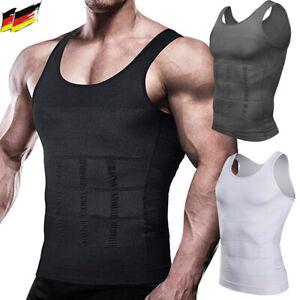 Herren Bauchweg Shirt Shapewear Unterhemd Kompression Tank Top Mieder Weste Slim