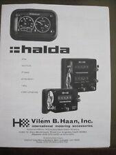 HALDA INSTRUCTION MANUAL FOR SPEEDPILOT, TWINMASTER, TRIPMASTER, 12 PAGES