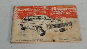 FORD FALCON 500 FAIRMONT GXL OPERATION MANUAL MAINTENANCE SCHEDULE BOOK GENUINE