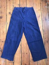 Mens Sweden army pants ovetall trousers workwear size 33-34 worker