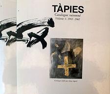 TÀPIES - Catalogue raisonné Vol. I-IV. Könemann, Köln 1999. French edition.