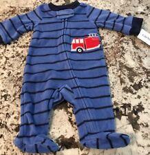 NWT BABY BOY CARTER'S  FOOTED  1pc FLEECE PAJAMA  SIZE NEWBORN