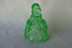 Boyd Glass Made in 1982 Colonial Lady Doll Louise Belle Vaseline Green