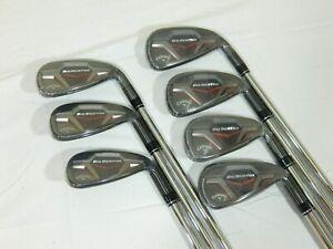 New Callaway Big Bertha 19 Iron Set 5-AW KBS Max Regular Steel irons 5-PW+AW