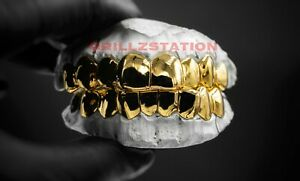 Custom  Permanent Deep Cut Gold Grillz