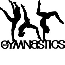 Gymnastics Girl Vinyl Decal ,For Tumblers, Cups, Cars, Computers,