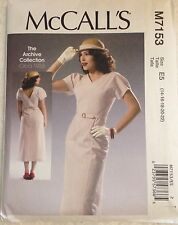 "New McCall's Sewing Pattern M7153 ""Archive Collection 1933"" 30s Style 14 - 22"