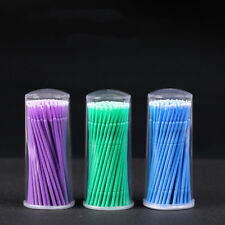 100× Disposable Micro Applicator Brush Stick Eyelash Extension Dental Swabs Nove