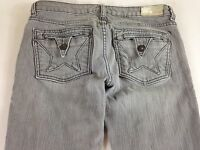 Peoples Liberation Jeans Skinny Star Womens 27 Tall Long Gray 32 x 33 Actual