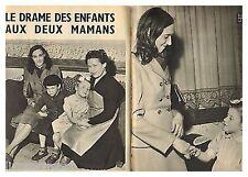 1957 : Document (Ref PA 407) : ENFANTS PIESSET ET DEROCK échangés ( 2 pages)