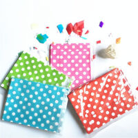 50pcs Polka Dot Candy Party Bags for Sweet Favour Buffet Wedding Cake Gift Shop