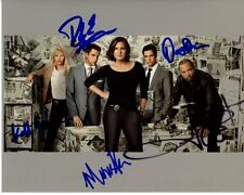LAW & ORDER SVU signed CAST photo MARISKA HARGITAY ICE T DANNY PINO KELLI