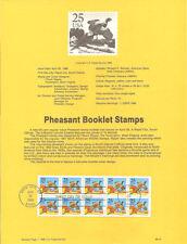 #8815 25c Pheasant Stamp Booklet #2283a USPS Souvenir Page
