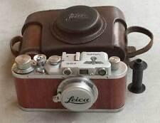Leica II D Luftwaffe copy chrome-wood in leather case (FED-Zorki copy)