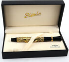 Stipula Academia Laurus/Horses Fountain Pen Vermeil-18K Gold Fine Nib