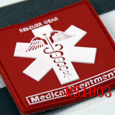 New Style PVC Medical Treatment Rescuer Gear Morale Tactical Magic Patch HOT