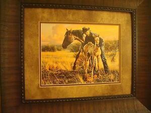 """TIM COX FRAMED """"THE NEW FOAL"""" OPEN EDITION PRINT"""