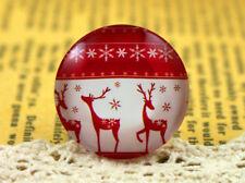25 mm fatto a mano vetro Cabochon   Nordic Natale Cervo Design   5pcs