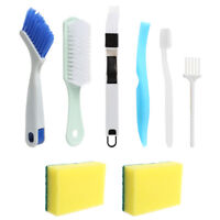 8Pcs/Set Window Door Groove Cleaning Brush Keyboard Gap Track Cleaner Tools Kit