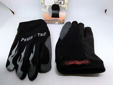 Power Trip Motorcycle Gloves Black Leather Man L