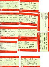 UK RAIL TICKETS+ VOUCHERS x12  KENDAL CARLISLE SETTLE NEWCASTLE OXENHOLME USED