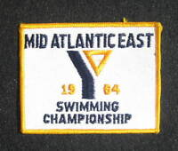 MID ATLANTIC EAST SWIMMING CHAMPIONSHIP EMBROIDERED SEW ON PATCH