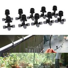 10pcs 4 Outlet Micro Water Spray Mist Cooling Nozzle Garden Irrigation Sprinkler